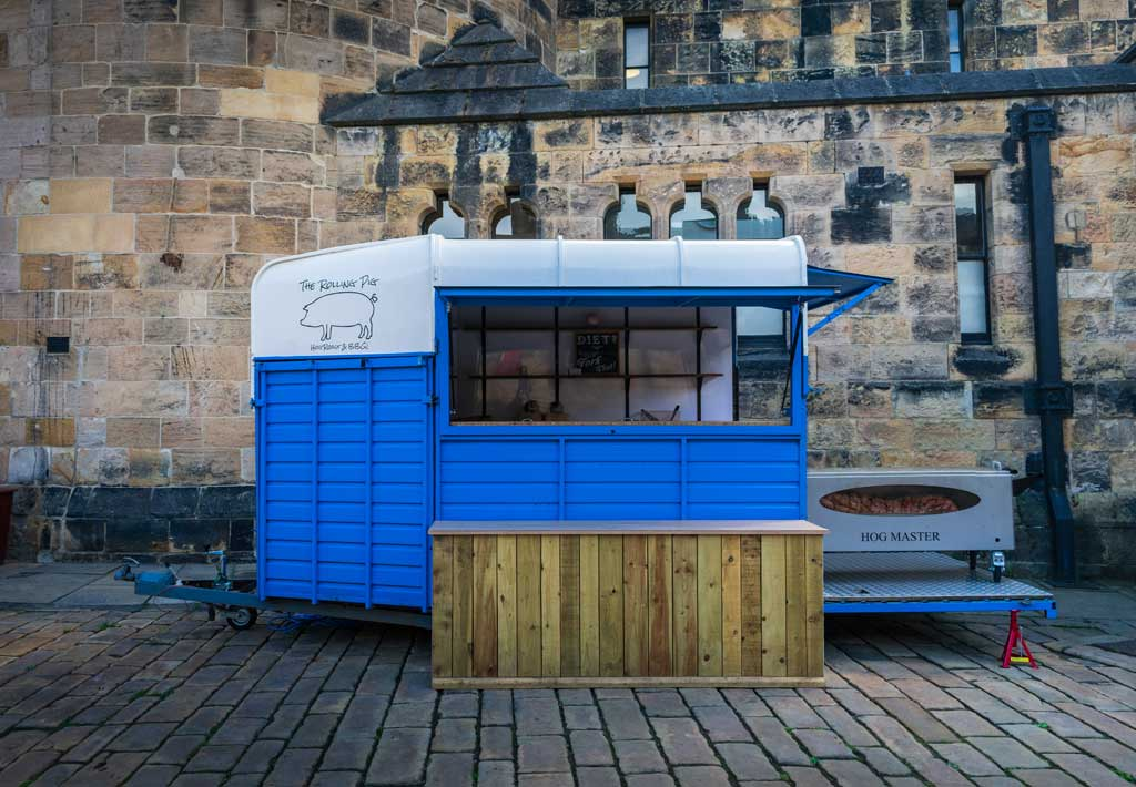 The Rolling Pig Vintage Horsebox at Alnwick Castle